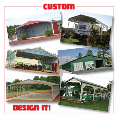 Customize your own building to fit any need you might have.If you can think it up we can build it! Call us today and lets get started on your dream building